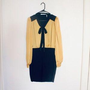 Have yellow black pencil dress